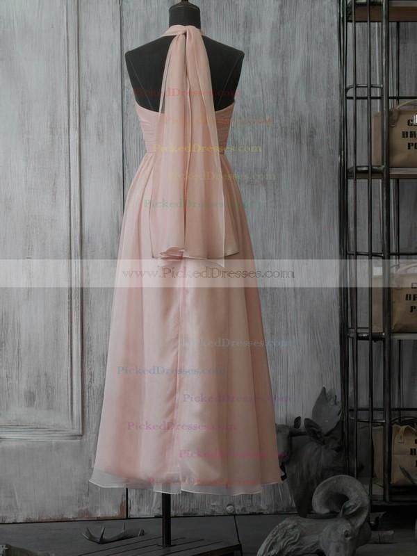 Chiffon A-line Sweetheart Tea-length Beading Bridesmaid Dresses #PDS02017891