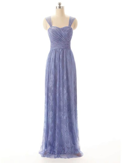 Lace Sheath/Column Sweetheart Floor-length Pleats Bridesmaid Dresses #PDS02017556