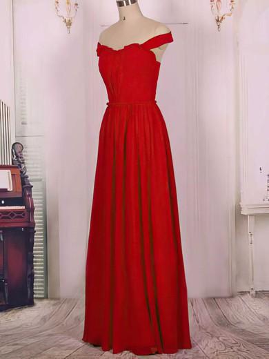 Chiffon A-line Sweetheart Floor-length Ruffles Bridesmaid Dresses #PDS02017575