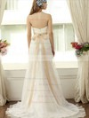 New Trumpet/Mermaid Split Front Ivory Lace Tulle Sweetheart Wedding Dresses #PDS00021405