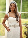 Ivory Lace Taffeta with Sashes/Ribbons Sweetheart Straps Classy Wedding Dress #PDS00021251