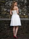 Cute Strapless Pleats White Chiffon Short/Mini Wedding Dresses #PDS00021264