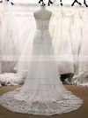 Original Sweetheart Appliques Lace White Tulle Court Train Wedding Dresses #PDS00021355