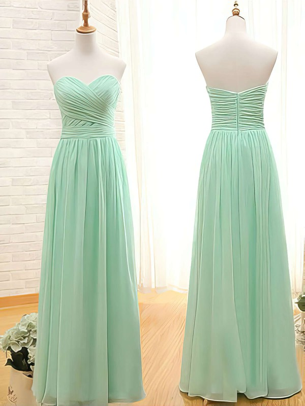 Sweetheart Sage Chiffon with Ruffles Promotion Bridesmaid Dresses #PDS01012407