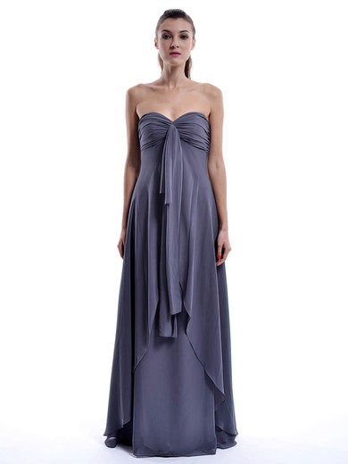 Chiffon A-line Sweetheart Floor-length Ruffles Bridesmaid Dresses #PDS01012432