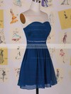 Chiffon A-line Sweetheart Short/Mini Beading Bridesmaid Dresses #PDS01012458