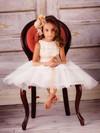 Tulle A-line Scoop Neck Tea-length Appliques Lace Flower Girl Dresses #PDS01031829