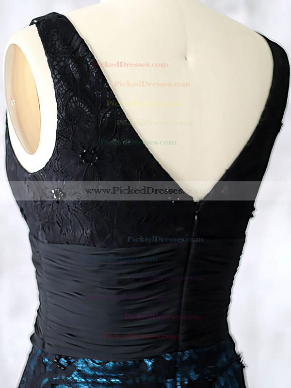 Unique Sheath/Column Black Lace Chiffon Beading Short/Mini Mother of the Bride Dresses #PDS01021598