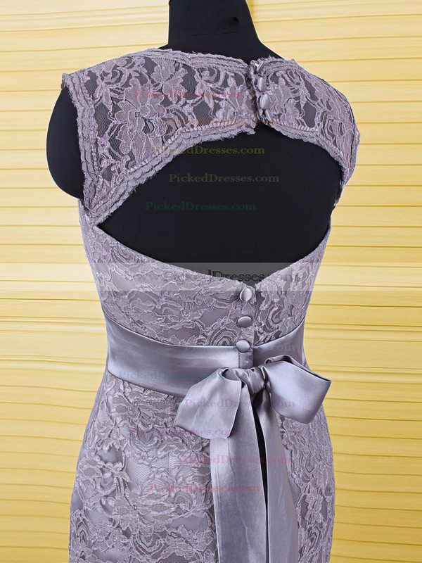 Classy Knee-length Sheath/Column Sashes / Ribbons Lace Mother of the Bride Dresses #PDS01021606