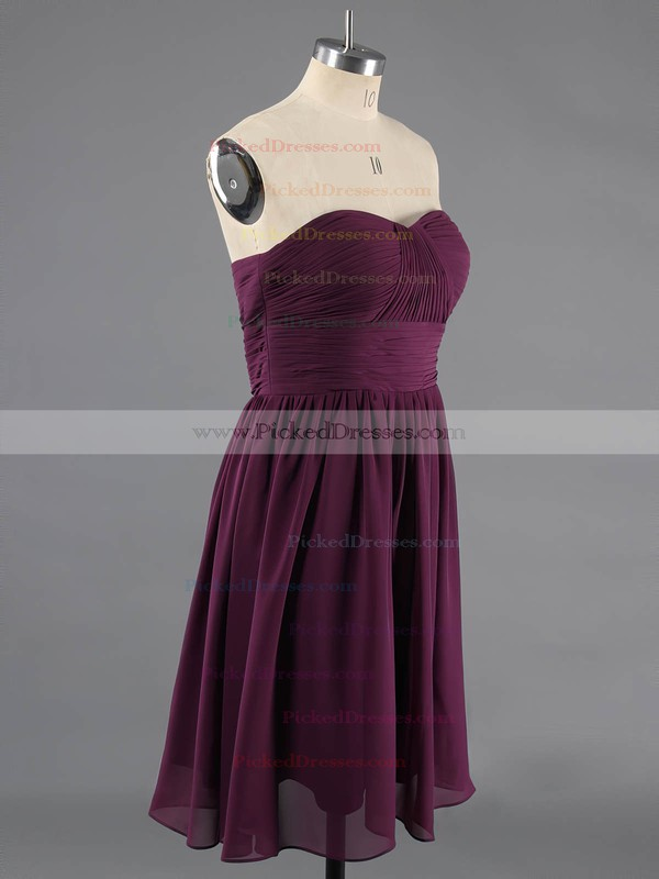 Discounted Sage Chiffon Ruffles Short/Mini Sweetheart Bridesmaid Dresses #PDS01012470