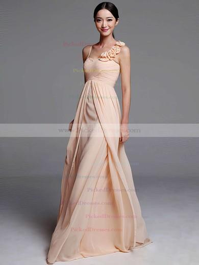 Sheath/Column Chiffon with Flower(s) Sweetheart Designer Bridesmaid Dresses #PDS01012489