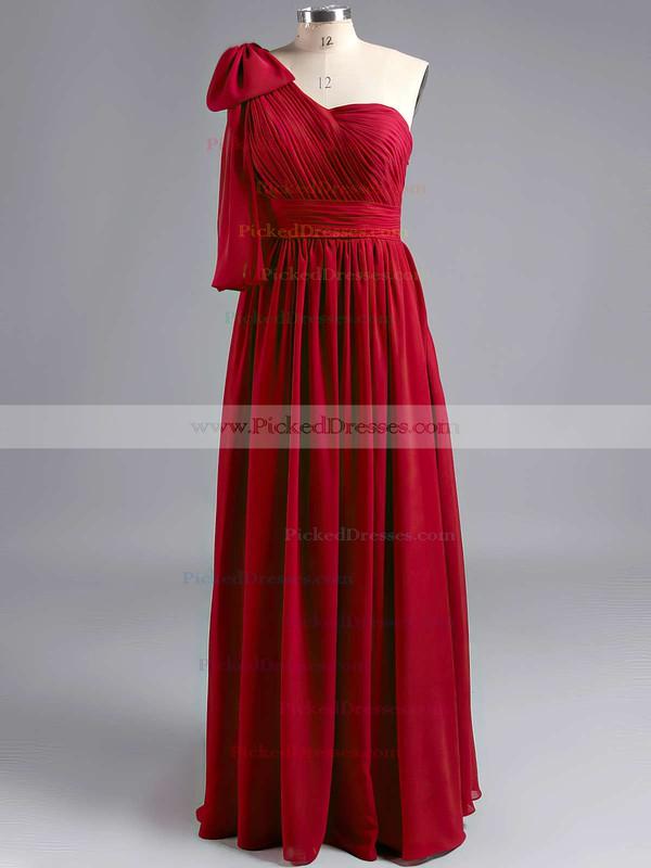 Sweetheart Empire Floor-length Gray Chiffon Ruffles Bridesmaid Dresses #PDS01012491