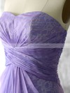 Elegant Lace Chiffon Sweetheart Sheath/Column Lavender Bridesmaid Dresses #PDS01012552