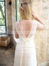 Summer A-line V-neck Sashes/Ribbons Ivory Chiffon Lace Wedding Dresses #PDS00021446