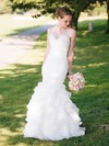 Sweetheart White Organza Tiered Trumpet/Mermaid Fashion Wedding Dress #PDS00021515