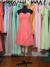 Hot Sweetheart Watermelon Chiffon Ruffles Knee-length Bridesmaid Dress #PDS01012179