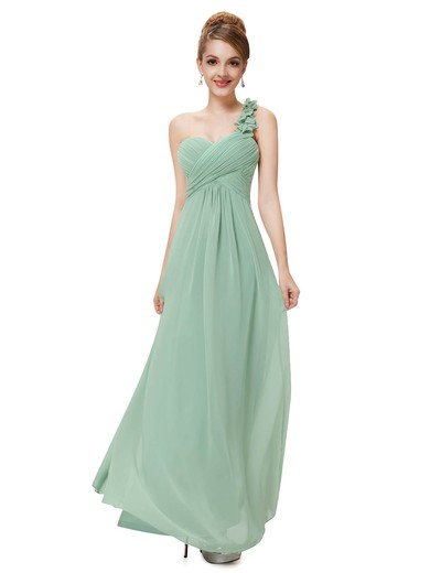 Beautiful Empire Chiffon with Ruffles One Shoulder Bridesmaid Dresses #PDS01012723
