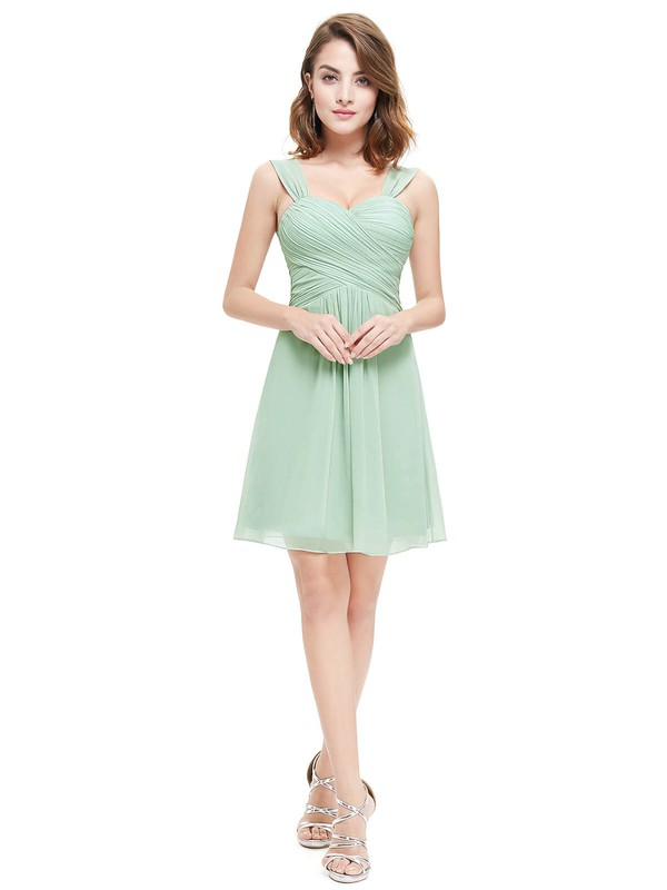 Short/Mini Sweetheart Chiffon with Ruffles Junior Bridesmaid Dresses #PDS01012724