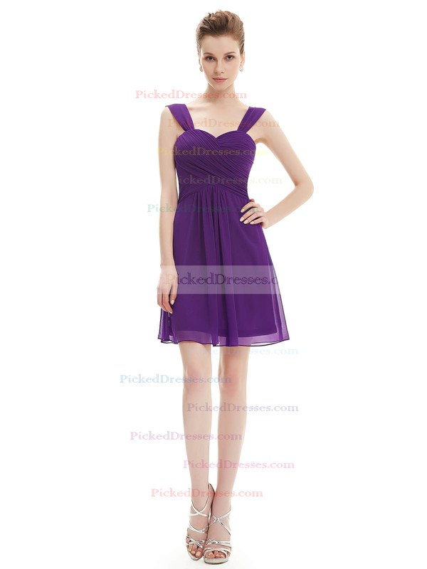 Short/Mini Sweetheart Chiffon with Ruffles Junior Bridesmaid Dresses #PDS01012724