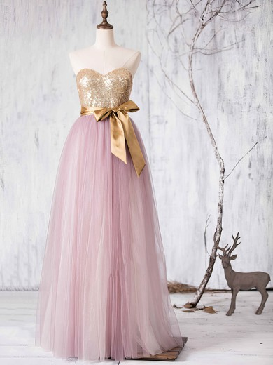 Multi Colours Tulle Sashes / Ribbons Sweetheart Princess Designer Bridesmaid Dresses #PDS01012727