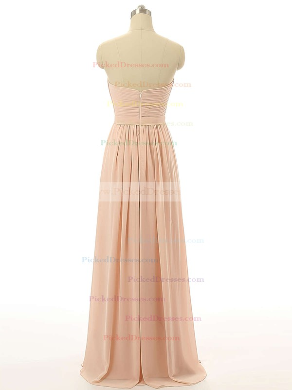 Sweetheart Floor-length Chiffon with Ruffles Girls Bridesmaid Dresses #PDS01012731