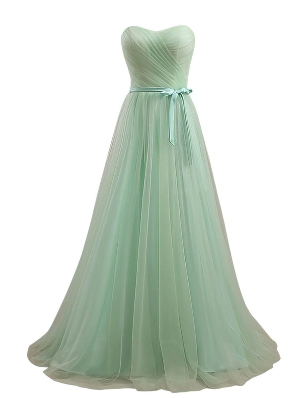 Sweetheart Floor-length Tulle Sashes / Ribbons Online Bridesmaid Dresses #PDS01012734