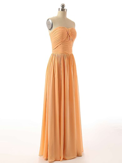 Floor-length Sweetheart Ruched Chiffon Elegant Bridesmaid Dresses #PDS01012736