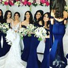 Backless Off-the-shoulder Lace Satin Trumpet/Mermaid Popular Bridesmaid Dresses #PDS01012743