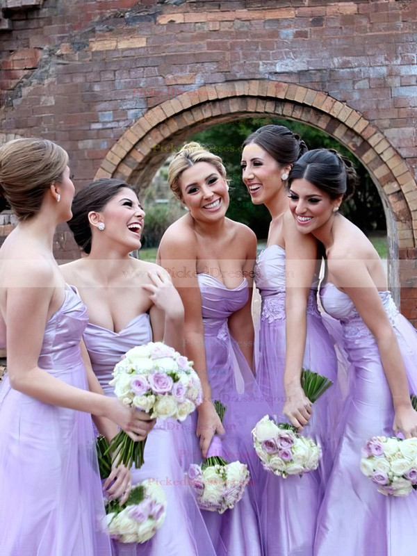 Tulle Sweetheart Floor-length with Ruffles Designer Bridesmaid Dresses #PDS01012749