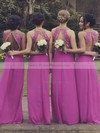 Classy Chiffon Beading A-line Scoop Neck Open Back Bridesmaid Dresses #PDS01012764