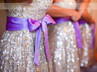 Sparkly Sequined Sashes / Ribbons Sweetheart Short/Mini Bridesmaid Dress #PDS01012775