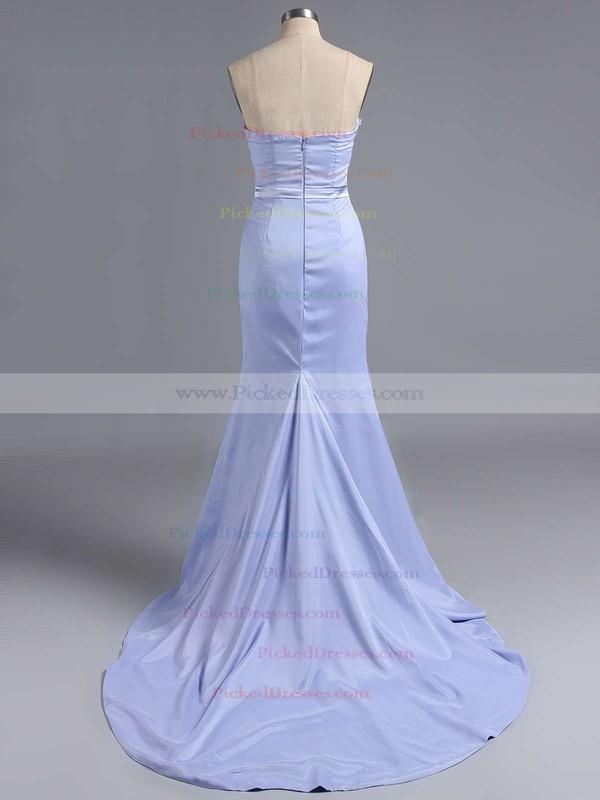 Silk-like Satin Appliques Lace Sweetheart Fashion Sheath/Column Bridesmaid Dress #PDS01012786