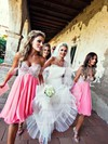 Empire Pink Chiffon Beading Sweetheart Short/Mini Bridesmaid Dresses #PDS01012801
