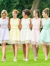 Short/Mini Open Back A-line Satin Tulle Bow Gorgeous Bridesmaid Dresses #PDS01012816