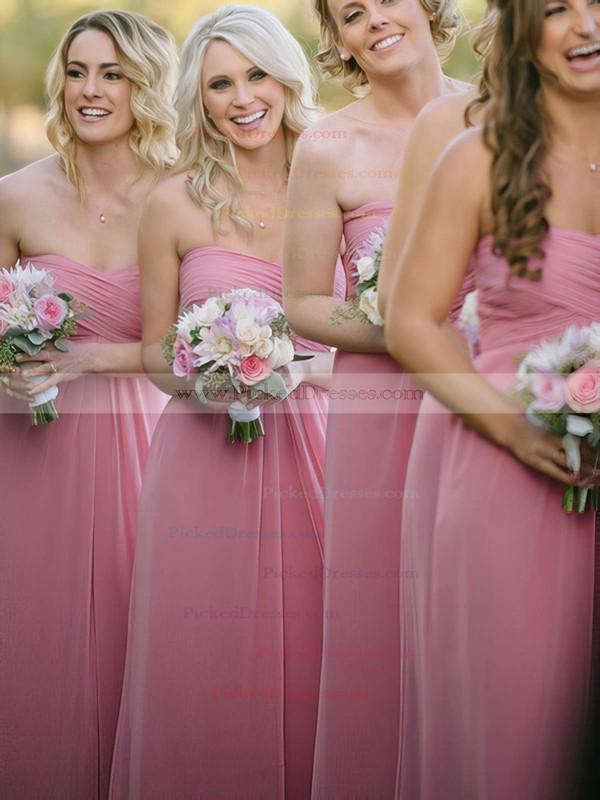 Sweetheart Ruffles Chiffon Floor-length Original Bridesmaid Dresses #PDS01012817
