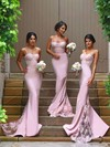 Funky Silk-like Satin Appliques Lace Sweetheart Trumpet/Mermaid Bridesmaid Dresses #PDS01012822