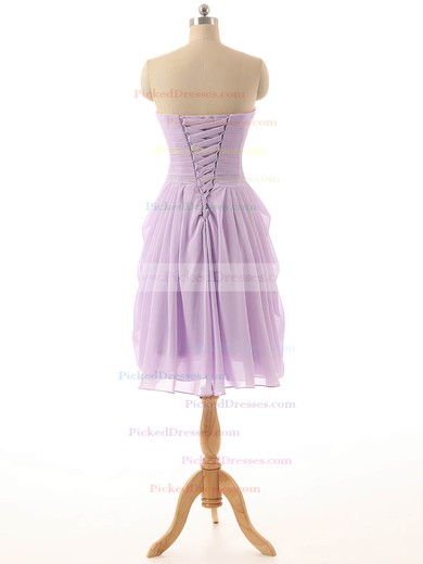 Sweetheart Ruffles Chiffon Fashion Short/Mini Lavender Bridesmaid Dress #PDS01012825