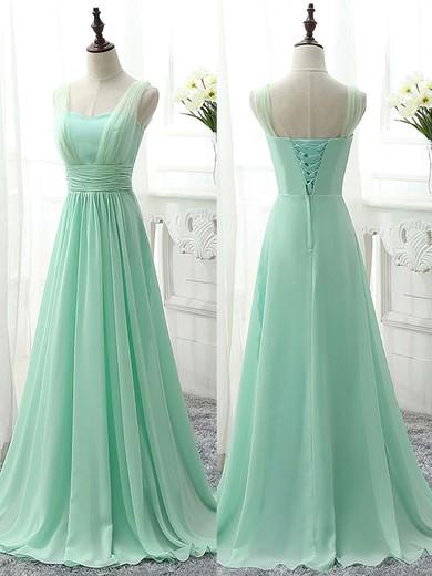 Sweetheart Sage Chiffon Sweep Train Ruffles Famous Bridesmaid Dress #PDS01012826