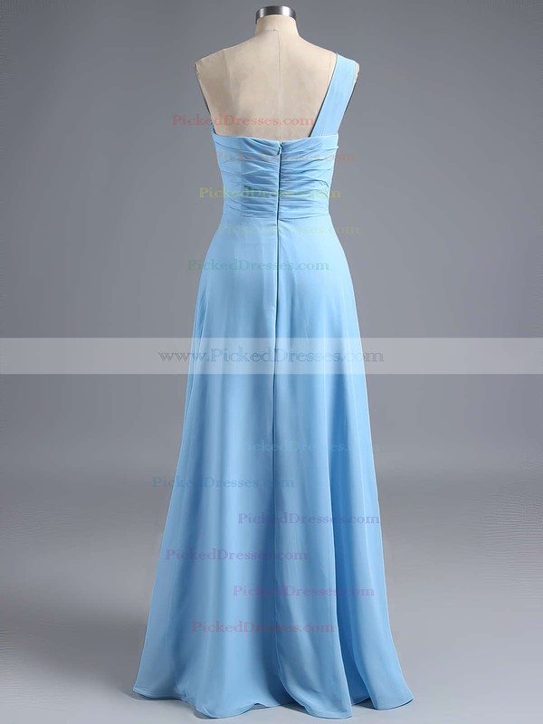 Amazing Ruffles Chiffon One Shoulder Sheath/Column Bridesmaid Dress #PDS01012828