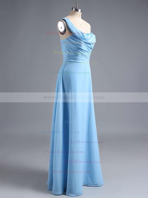 Amazing Ruffles Chiffon One Shoulder Sheath/Column Bridesmaid Dress #PDS01012828