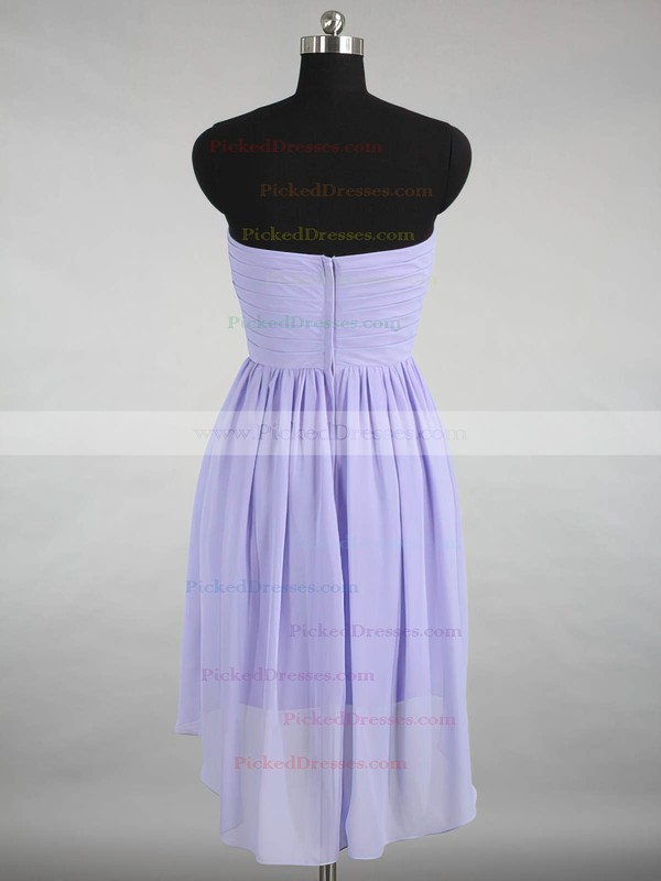 Inexpensive Sweetheart Chiffon Ruffles Asymmetrical Bridesmaid Dresses #PDS01012870