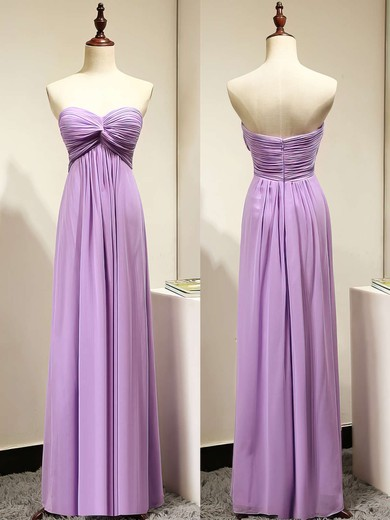Sweetheart Chiffon Criss Cross Sexy Lavender Empire Bridesmaid Dresses #PDS01012872