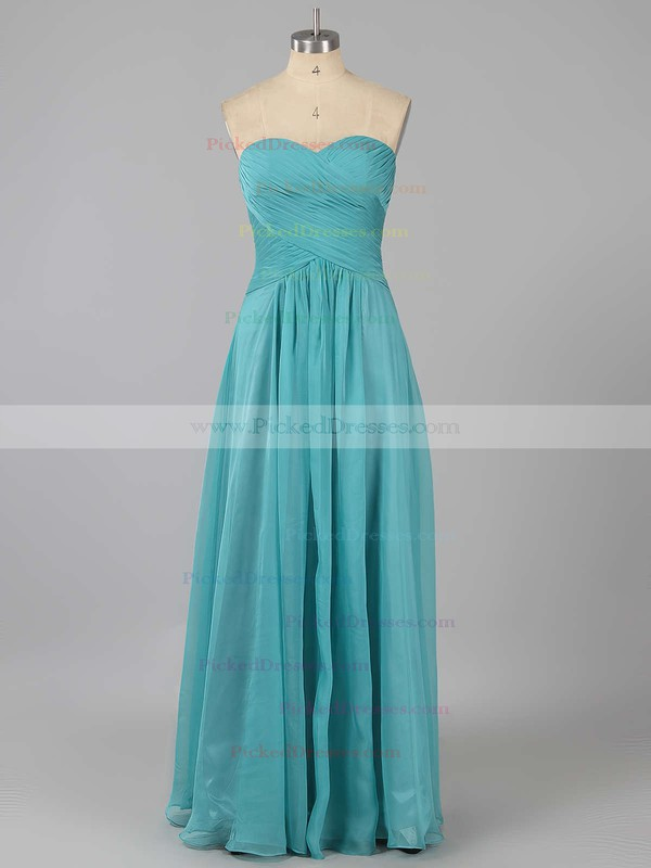 Discount Sweetheart Chiffon Ruffles Sweep Train Bridesmaid Dresses #PDS01012878