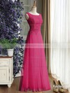 Scoop Neck Lace Tulle Ruffles Floor-length Newest Bridesmaid Dress #PDS01012889