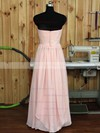 Great Sweetheart Chiffon Ruffles Floor-length Pink Bridesmaid Dress #PDS01012890