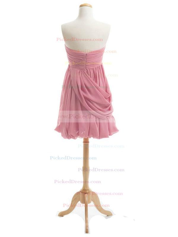 Short/Mini Sheath/Column Sweetheart Ruffles Chiffon Boutique Bridesmaid Dresses #PDS01012919