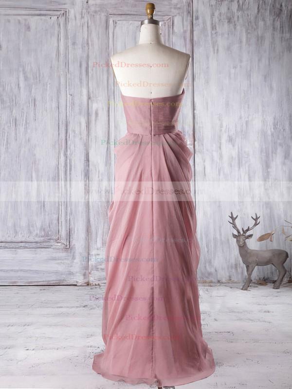 Empire Sweetheart Ruffles Chiffon Floor-length Custom Bridesmaid Dresses #PDS01012933