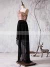 Asymmetrical A-line Chiffon Sequined Ruffles Latest One Shoulder Bridesmaid Dress #PDS01012936