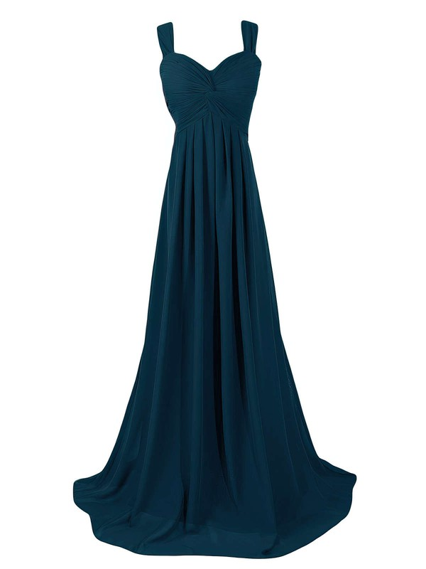 Sweetheart Sweep Train Chiffon with Criss Cross Empire Wholesale Bridesmaid Dresses #PDS01012945