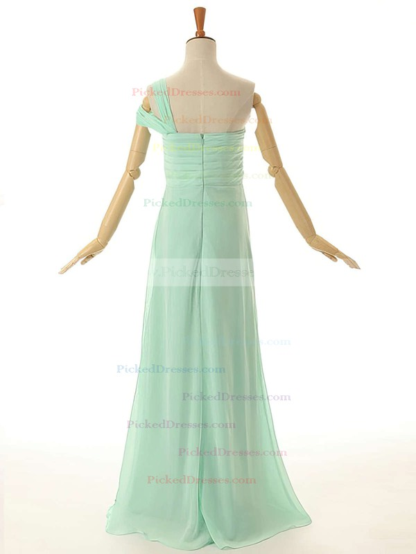 Beautiful Empire Ruffles Chiffon Floor-length One Shoulder Bridesmaid Dresses #PDS01012954